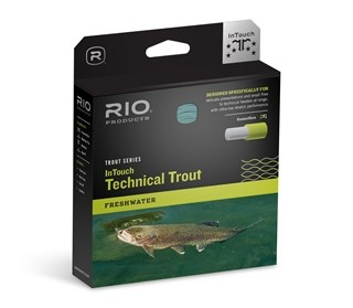 RIO RIO INTOUCH - TECHNICAL TROUT WF4F Size: WF4F Head  Length: 49ft/14.9m Overall Length: 90ft/27.4m Sink Rate: Float
