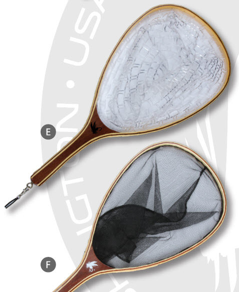 MAXXON Outfitters Maxxon Wood Net, w/ knotless CLEAR PVC netting, attachment eye & clasp