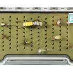 """South Fork/New Phase Fish Tales Silicon slim Fly Box 7.35"""" by 3.75"""" by .6 with logo"""