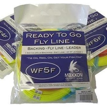 MAXXON Outfitters Maxxon Ready  to Go Fly Line With Backing and Leader 5WT