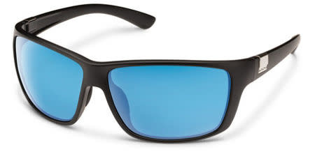 Suncloud Optics SUNCLOUD  COUNCILMAN MATTE BLACK POLARIZED BLUE MIRROR