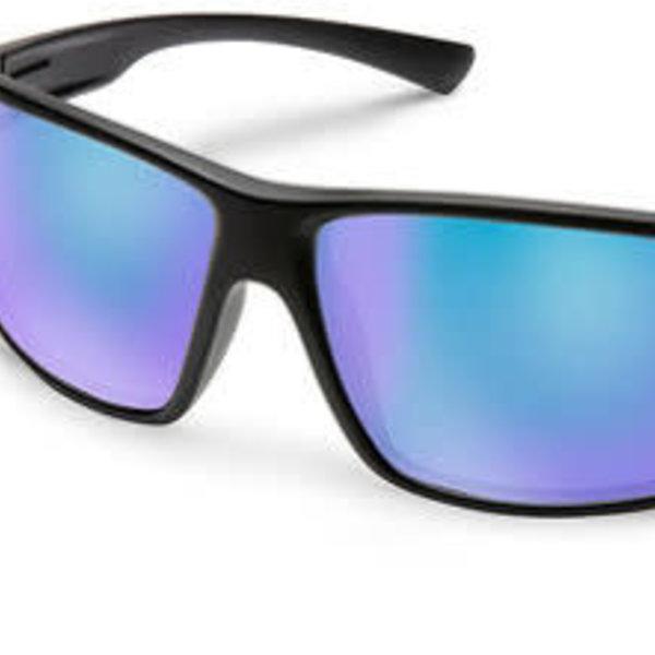 Suncloud Optics HAWTHORNE MATTE BLACK POLARIZED BLUE MIRROR