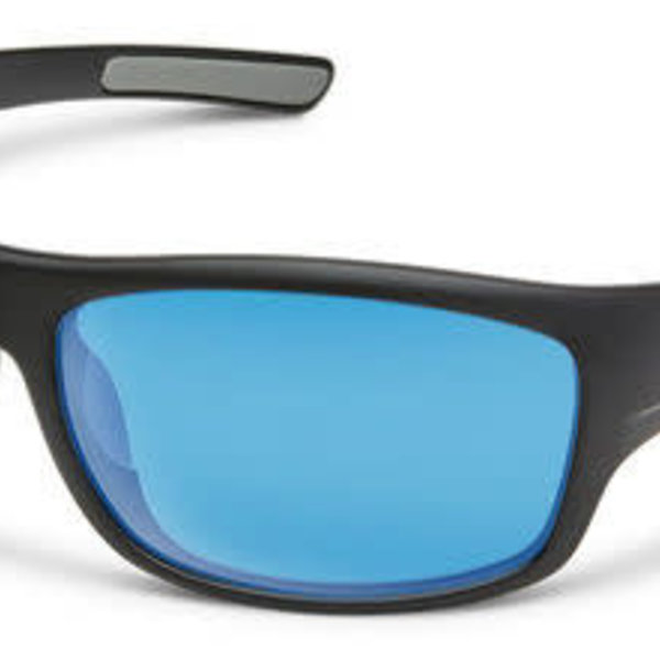 Suncloud Optics SUNCLOUD  COVER MATTE BLACK POLARIZED BLUE MIRROR