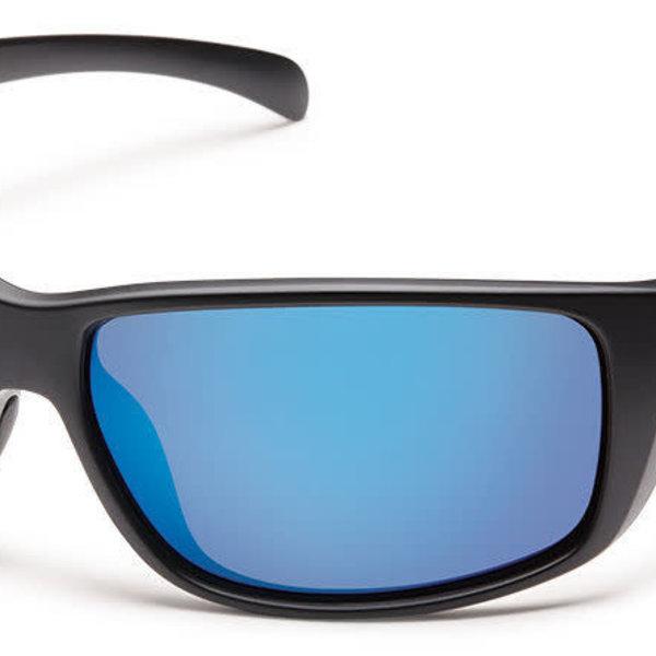 Suncloud Optics SUNCLOUD  MILESTONE MATTE BLACK POLARIZED BLUE MIRROR