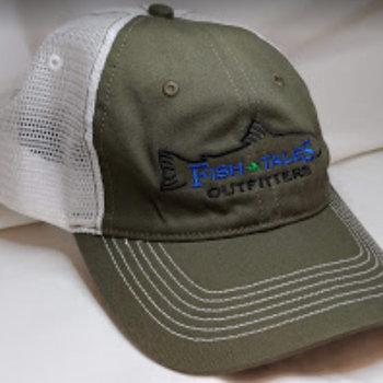Logo Up Fish Tales Baseball Style Hat Company Logo Brown/white mesh