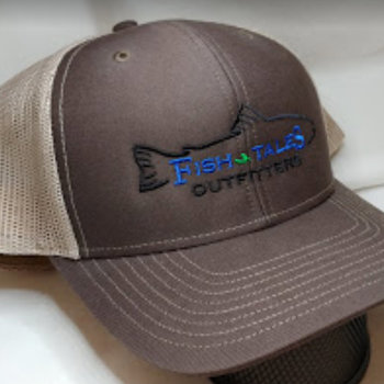 Logo Up Fish Tales Baseball Style Hat Company Logo Brown/medium brown mesh