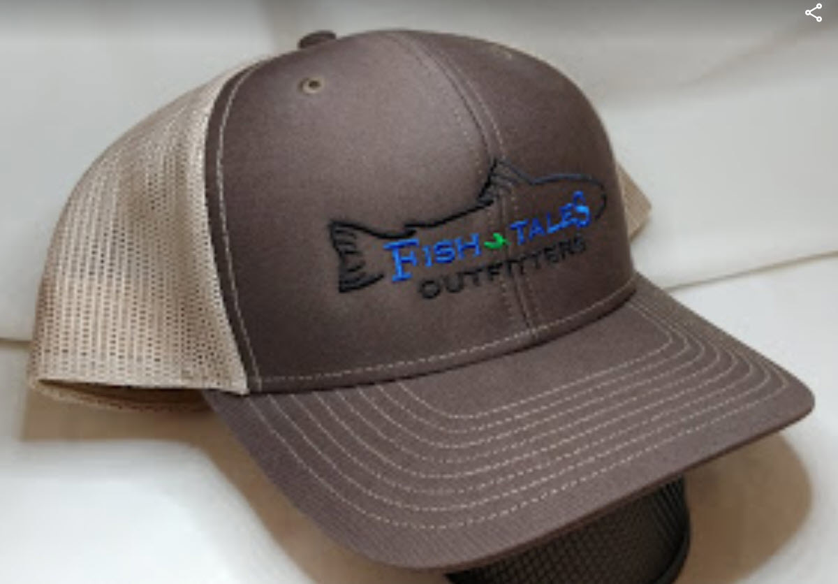 Logo Up Fish Tales Baseball Style Hat Company Logo Brown/medium brown mesh
