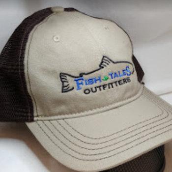 Logo Up Fish Tales Baseball Style Hat Company Logo medium brown/dark brown mesh