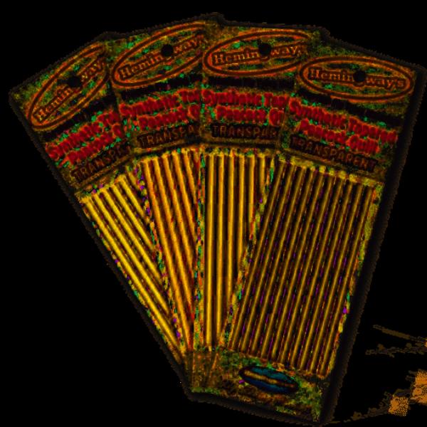 HEMINGWAYS Hemingways Synthetic Tapered Peacock Quill - Yellow