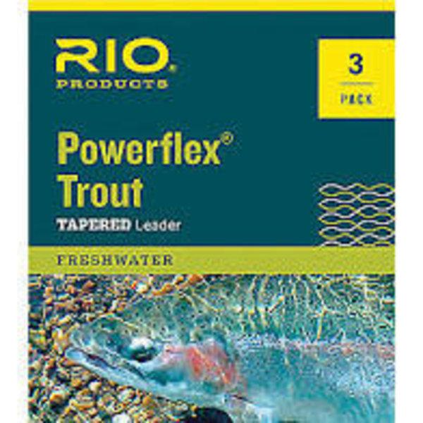 RIO RIO POWERFLEX PLUS 9FT 6X LEADER 3-PACK