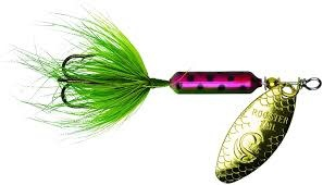 """Wordens Wordens 208-RBOG Rooster Tail In-Line Spinner, 2 1/4"""", 1/8 oz rainbow green"""