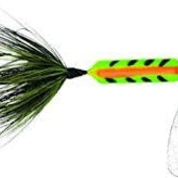 "Wordens Wordens 208-ZEB Rooster Tail In-Line Spinner, 2 1/4"", 1/8 oz Zebra"