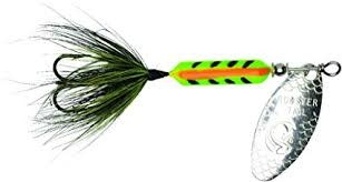 "Wordens Wordens 208-ZEB Rooster Tail In-Line Spinner, 2 1/4"", 1/8 oz Zebra"