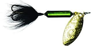 """Wordens Wordens 208-MGRB Rooster Tail In-Line Spinner, 2 1/4"""", 1/8 oz Metallic Green Black"""