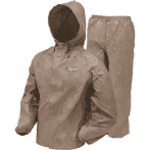 Frog Toggs Men's Ultra-Lite II Rain Suit, Khaki, Size MD