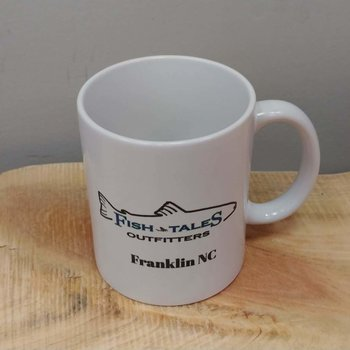 Vista Fish Tales White Coffee Mug with Logo