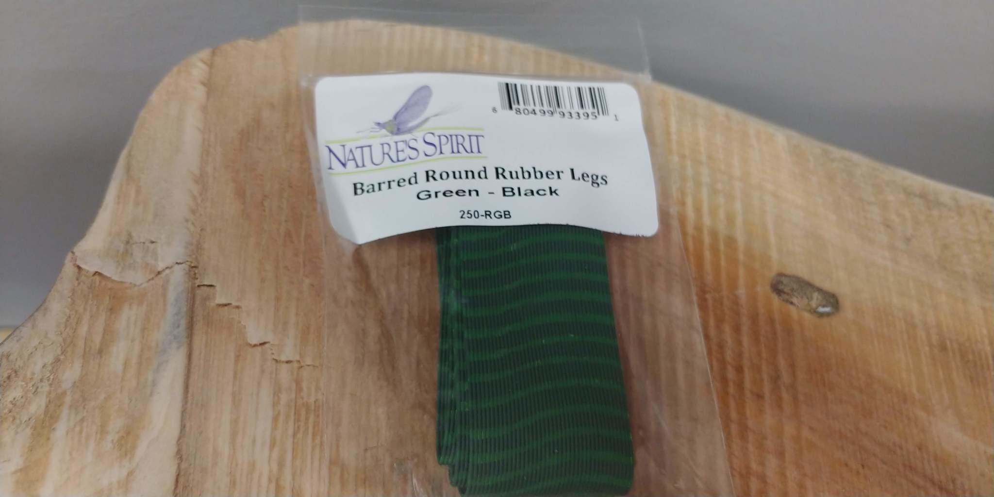 Natures Spirit NATURES SPIRIT BARRED ROUND RUBBER LEGS GREEN-BLACK