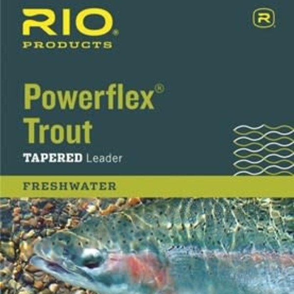 RIO POWERFLEX TROUT 9FT 4X LEADERS