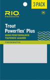 RIO RIO POWERFLEX PLUS 7.5FT 5X LEADER 3-PACK