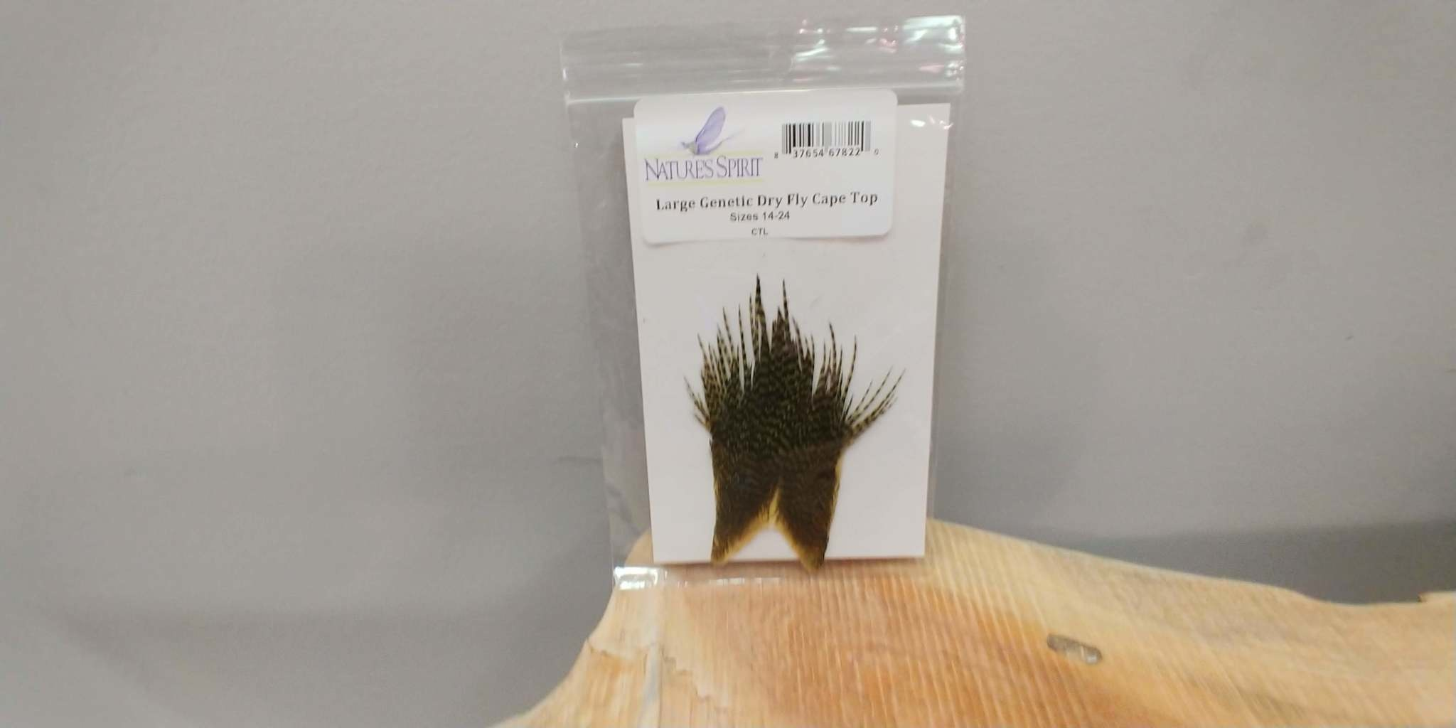 Natures Spirit GENETIC DRY FLY HACKLE Large Cape Top,  Sizes 14-22