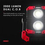 NEBO NEBO OMNI 2K 2000 LUMENS WORK LIGHT