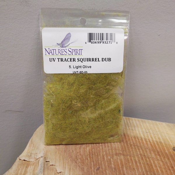 Natures Spirit NATURES SPIRIT -  UV TRACER SQUIRREL DUBBING - Light Olive