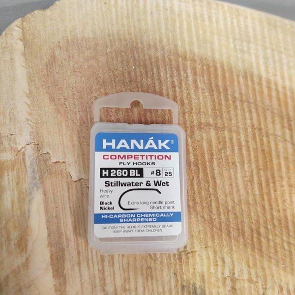 Hanak Hanak Hooks, Model 260 BL STILLWATER & WET , Sz 8, 25 pk