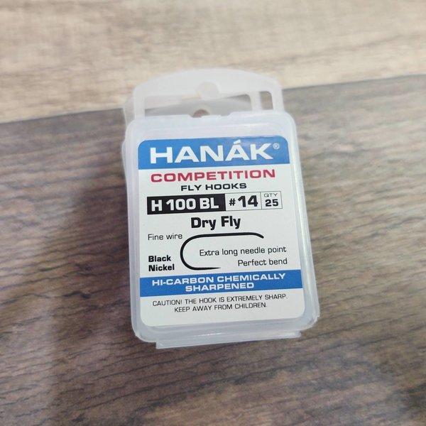 Hanak HANAK COMP HOOK DRY FLY H 100 BL #14 25 PACK
