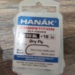 Hanak HANAK COMP HOOK DRY FLY H 130 BL #18  25 PACK