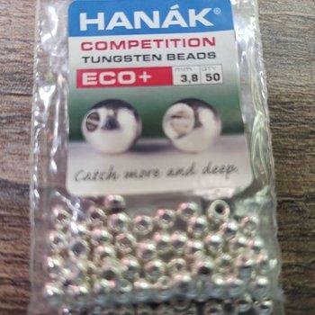 Hanak Hanak Tungsten Beads, Eco+ Silver, 3.8 mm, 50 pcs