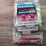 Hanak Tungsten Beads, Metallic+ Light Pink, 2.5 mm, 20 pcs
