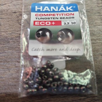 Hanak Hanak Tungsten Beads, Eco+ Black Nickel, 3.3 mm, 50 pcs
