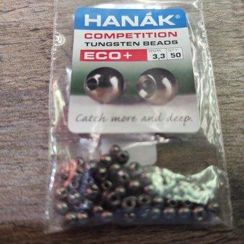 Hanak Tungsten Beads, Eco+ Black Nickel, 3.3 mm, 50 pcs