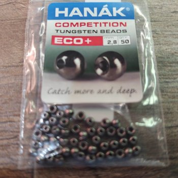 Hanak Hanak Tungsten Beads, Eco+ Black Nickel, 2.8 mm, 50 pcs