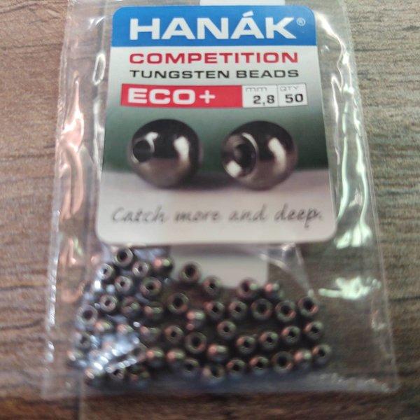 Hanak Tungsten Beads, Eco+ Black Nickel, 2.8 mm, 50 pcs