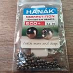 Hanak Tungsten Beads, Eco+ Black Nickel, 2.3 mm, 50 pcs