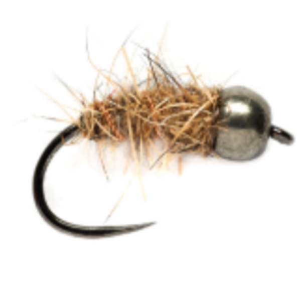 Fulling Mill HARE'S EAR BLACK (TBH) BARBLESS Size 14