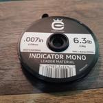 Cortland Indicator white  Mono Leader Material  6.3 LB .007 50'