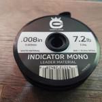 Cortland Indicator White  Mono Leader Material  7.2 LB .008  50'