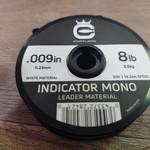 Cortland Cortland Indicator white  Mono Leader Material  8 LB .009  50'