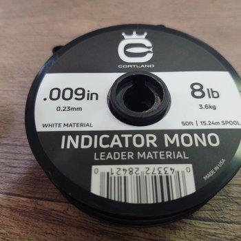 Cortland Indicator white  Mono Leader Material  8 LB .009  50'