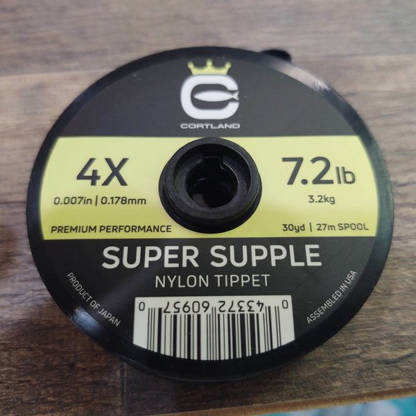 Cortland Super Supple Nylon Tippet 4X 7.2 LBS