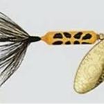 Wordens S208-YLCD Rooster Tail Single Hook 1/8 oz gold blade