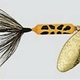 Wordens Wordens S208-YLCD Rooster Tail Single Hook gold blade