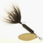 Wordens Wordens 208-GBL Rooster Tail 1/8 Black with Gold Spoon