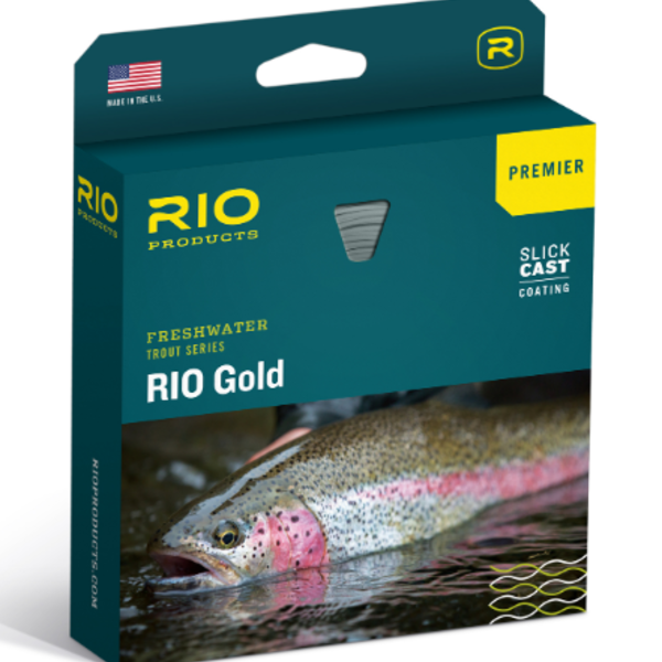 RIO RIO Gold Premier with Slick Cast WF4F moss/gold