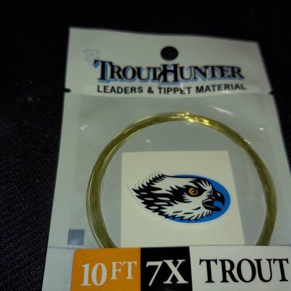 TROUTHUNTER NYLON - 10'  7X LEADER