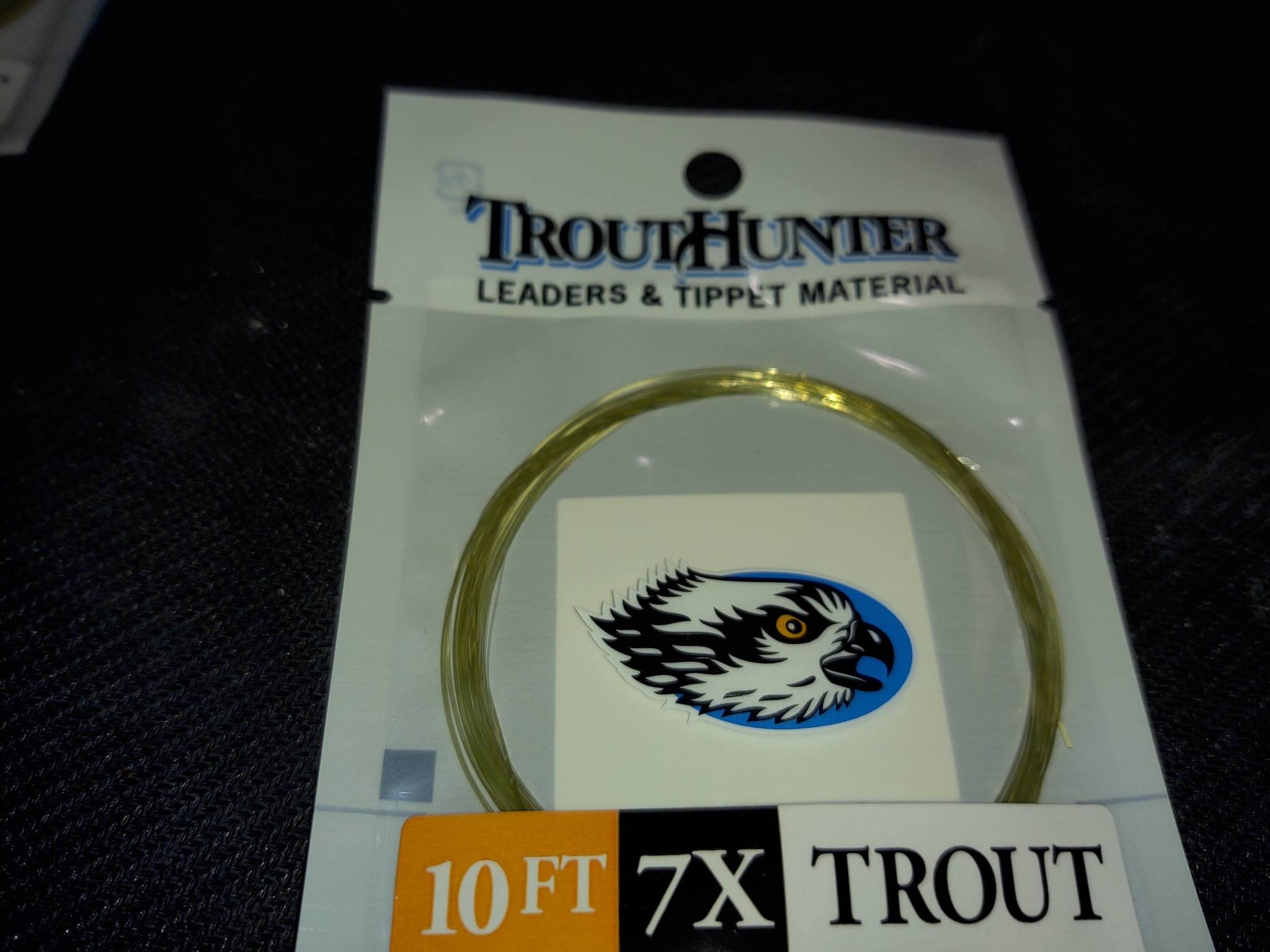 TROUTHUNTER TROUTHUNTER NYLON - 10'  7X LEADER