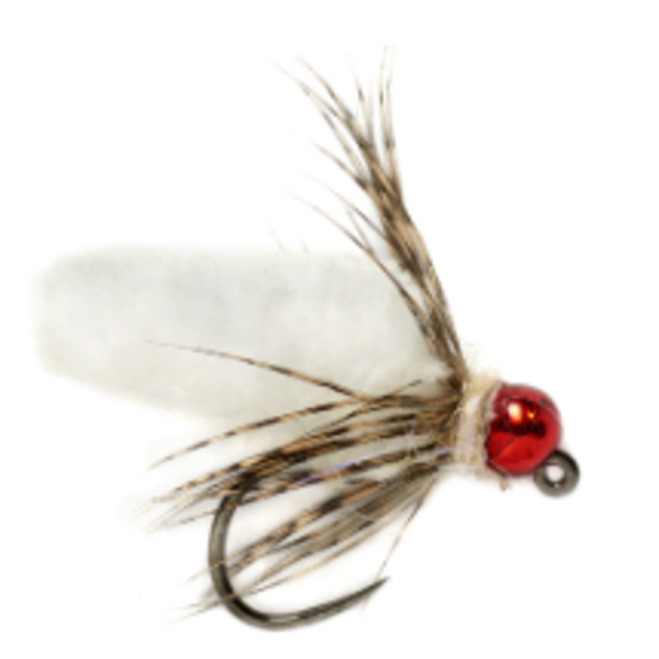Fulling Mill Mop Fly White Barbless size 14