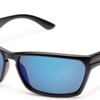 SunCloud CUTOUT MATTE BLACK POLARIZED BLUE MIRROR
